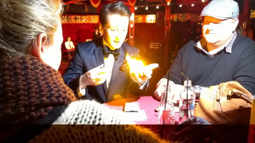 Rafael Scholten tafel goochelaar belgië
